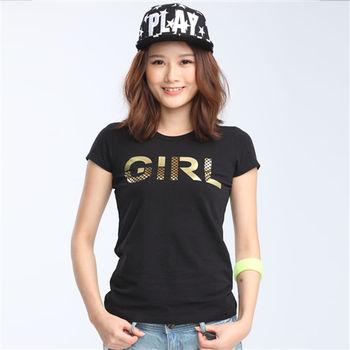 【TOP GIRL】印花文字圓領T恤-共三色