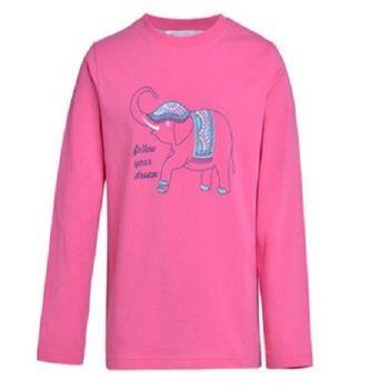[協賀]女童卡通棉感圓領長袖T恤