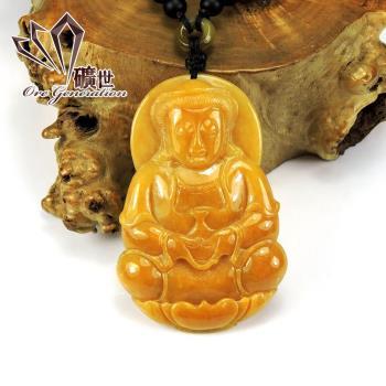 【礦世】永保安康寶瓶觀音A貨黃翡翠項鍊