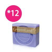 GreenLand 72%初榨橄欖薰衣草馬賽皂12入(超值組)
