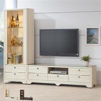 【時尚屋】[UZ6]志耀7.6尺L型電視櫃UZ6-211-1+211-4