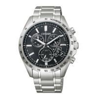 【CITIZEN星辰】Eco-Drive光動能電波鋼帶男腕錶-銀x黑 (BY0130-51E)