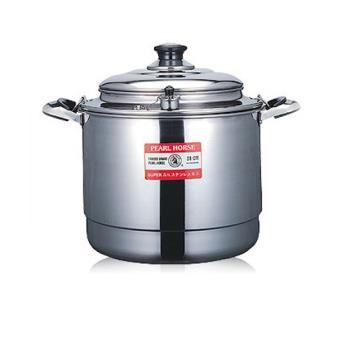 【日本寶馬牌】不銹鋼多用途煉鍋坐月子滴雞精湯鍋-28cm