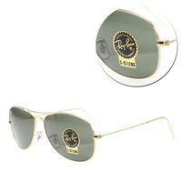 【Ray Ban】COCKPIT-經典墨綠金框太陽眼鏡(RB3362-001)