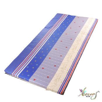 依文絲 藍海繁星日式純棉中青便利床墊-單人3.5X6.2尺