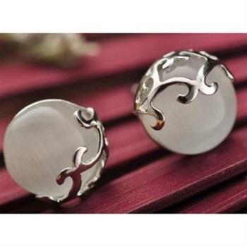 【米蘭精品】925純銀耳環耳針式瑪瑙耳飾復古高雅