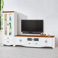 【時尚屋】[UZ6]泰豐白色9尺L型電視櫃UZ6-216-4