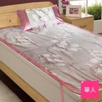 【佳工坊】頂級冰絲涼蓆兩件床墊組(單人105x188cm)