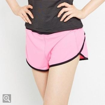 TOP GIRL 撞色運動短褲-紅