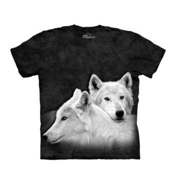 【摩達客】(預購)美國進口The Mountain 狼兄狼弟 純棉環保短袖T恤