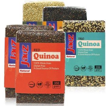JAUZ喬斯 紅藜麥2包+白藜麥+黑藜麥+三色藜麥QUINOA (各350公克共5包)