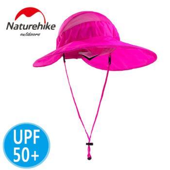【Naturehike】UPF50+輕巧折疊款多功能遮陽帽/防曬帽(粉紅)