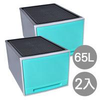【SONA MALL】個性粉彩單層收納整理箱(65公升) 2入組