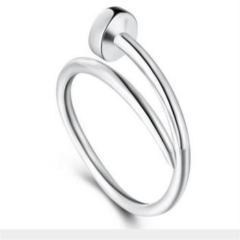 【米蘭精品】925純銀戒指鐵釘戒指戒指精緻