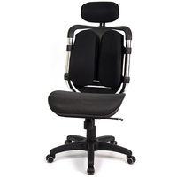 aaronation 愛倫國度 - 黑爪網布坐墊雙背式辦公電腦椅 (i-119MHSG-1)