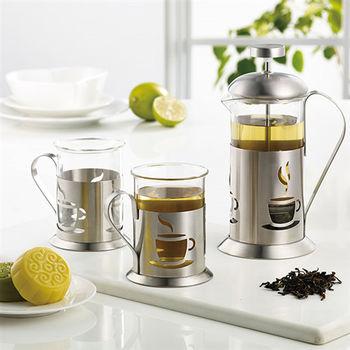 【妙管家】優質沖茶器組/泡茶組(一壺二杯) HKP-2-400-行動