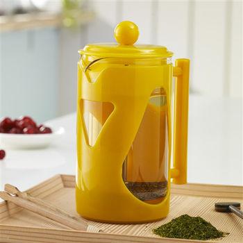 【妙管家】炫彩沖茶器/泡茶器700ml 黃色 HKP-700Y