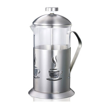 【妙管家】特級不鏽鋼沖茶器/泡茶器1.1L HKP-1100-行動