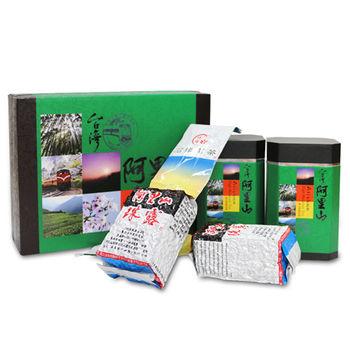 【台灣茗茶】阿里山手採珠露高冷茶2入禮盒(附提袋)