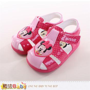 魔法Baby 寶寶鞋迪士尼米妮正版寶寶外出鞋~sh9733