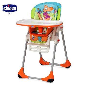 chicco-POLLY兩段式高腳餐椅-童話世界/橘