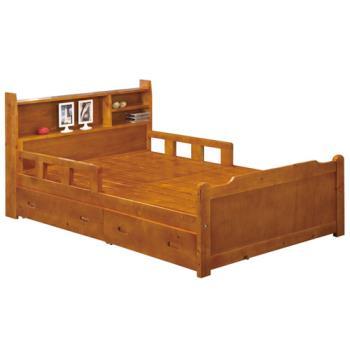 【顛覆設計】費奇3.5尺書架型單人實木床架