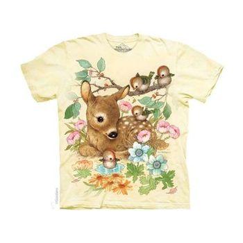 【摩達客】(預購)美國進口The Mountain 小鹿斑比 純棉環保短袖T恤