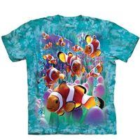 【摩達客】(預購)美國進口The Mountain  海葵與小丑魚 純棉環保短袖T恤
