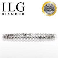 ILG鑽-頂級八心八箭擬真鑽石手鍊-鑽約10分-玲瓏相思款 BR044