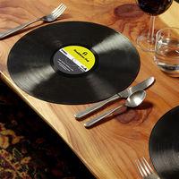 HeadphoneDog唱片造型桌墊/餐盤墊/點心墊X2(兩入裝)-行動