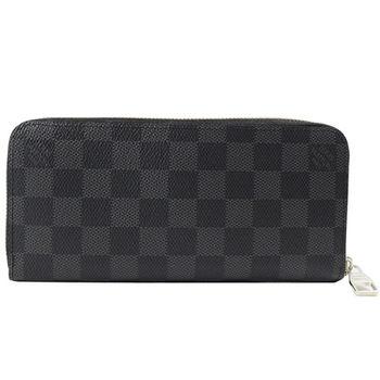 LV N63095 黑棋盤格紋多功能拉鍊長夾 預購