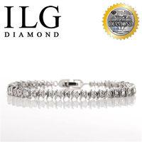 ILG鑽頂級八心八箭擬真鑽石手鍊-鑽約10分-流轉愛情款 BR050紀念日送禮生日禮物