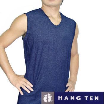 【HANG TEN】超值10件組時尚型男彩色羅紋寬肩背心隨機取色-750