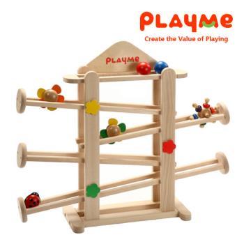 PlayMe轉轉花園~可愛小花滾球玩具