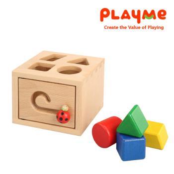 【PlayMe】瓢蟲幾何屋~顏色形狀認知玩具