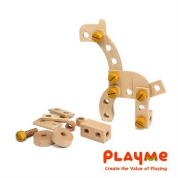 【PlayMe】動物螺絲積木~建構組合發揮創意