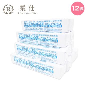 【BabyTiger虎兒寶】Roaze 柔仕 乾濕兩用嬰兒小方巾 (拋棄式) 200片/包 - 12 入組