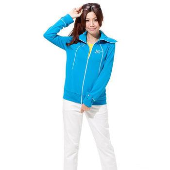 3D.KING【3D-U305-12】多功能專利變形衣2合1抗UV亮彩典雅系列外套-領子變口罩+袖口變手套(藍色)