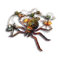 【OutdoorBase】戶外蜘蛛露營帳篷LED串燈-21881-行動(蜘蛛人復仇者聯盟萬聖節聖誕節裝飾燈)