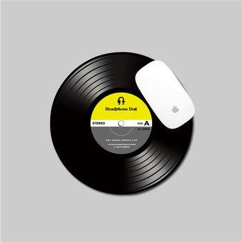 【HeadphoneDog】DJ唱片刷碟滑鼠墊(酷黃灰)-行動
