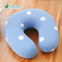 【格藍傢飾】水玉涼感舒壓護頸枕(小)-蘇打藍