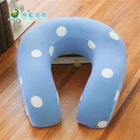 【格藍傢飾】水玉涼感舒壓護頸枕(大)-蘇打藍