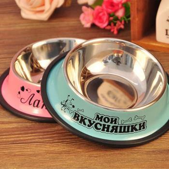 【寵物貴族】頂級防滑不鏽鋼寵物碗/狗碗_大口徑16cm