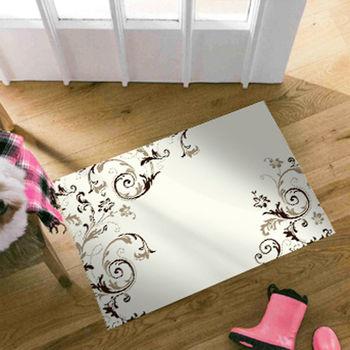 范登伯格 悅舞視覺影像絲質地毯-捲葉-50x70cm