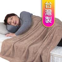 【源之氣】銀髮族極超細纖維柔軟四季毯90*150cm(單人3*5尺) 褐色 RM-10512