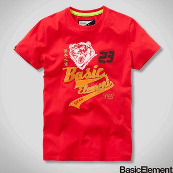 【BasicElement】男款熊風再起 Tee-紅色
