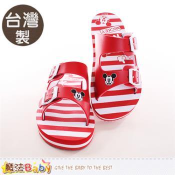魔法Baby 成人女款拖鞋 台灣製迪士尼米奇正版拖鞋~sh9781