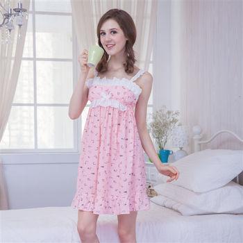 【MFN蜜芬儂】優美輕熟女純棉居家bra top洋裝(2色)