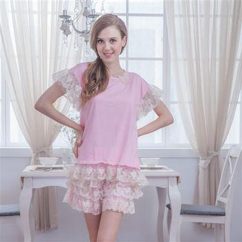【MFN蜜芬儂】甜美蕾絲純棉居家睡衣(3色)