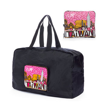 TAiWAN 摺疊旅行袋(中)-梅紅-行動